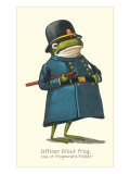 Doleful Frog as Policeman