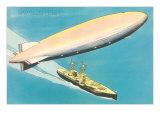 Navy Zeppelin over Ship