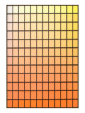 Squares with Gradated Orange to Yellow