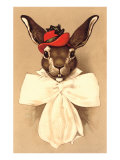 Rabbit in Bow and Hat