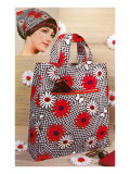 Patterned Bag and Headscarf