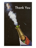 Thank You  Champagne Blowing Cork