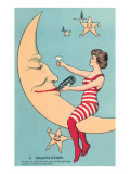 Woman Giving Wine to Moon