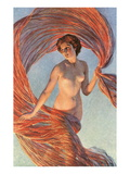 Aurora  Nude Woman with Flying Drape