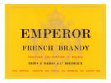 Emperor French Brandy Label