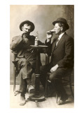 Two Men Drinking Beer