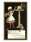 French Maid Toasting Skull