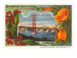 Season&#39;s Greetings from California  Golden Gate Bridge