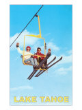 Couple on Ski Lift  Lake Tahoe
