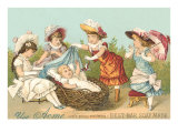 Victorian Soap  Baby in Basket