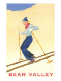 Woman Skiing Down Hill  Bear Valley
