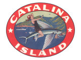 Woman Riding Flying Fish  Catalina Island