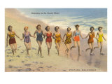 Bathing Beauties on Beach  Ventura