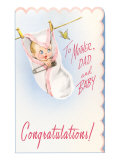 Congratulations  Baby Hanging on Line