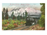 Southern Pacific Railroad and Mt Shasta  California