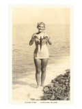 Bathing Beauty Holding Flying Fish  Catalina