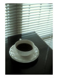Cup of Coffee and Venetian Blinds