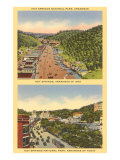 Two Views of Hot Springs  Arkansas