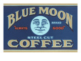 Blue Moon Coffee Label