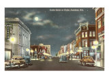 Downtown at Night  Anniston  Alabama