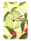 Coffee from Colombia  Map  Berries