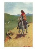 Painting of Galloping Cowgirl