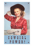 Cowgirl Power  Silk Shirt and Gloves