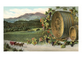 Vineyard with Horse-Drawn Cart