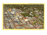 Aerial View of Fresno  California