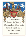 Advice on Wine Drinking  Medieval