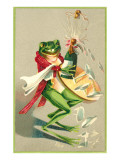 Frog Popping Champagne Cork