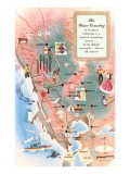 Map of California Wine Country