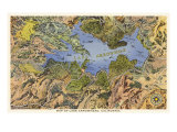 Map of Lake Arrowhead  California