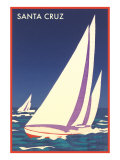 Racing Sailboats  Santa Cruz  California