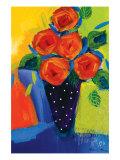 Spring Blooms In Blue Vase I
