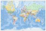 World Map - German