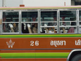 Close-Up of the Side of a Local Bus in Ayutthaya  Thailand  Southeast Asia