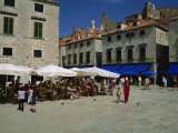 Luza Square  Dubrovnik Old City  Dalmatia  Croatia