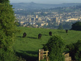 View of Bath from Widdecombe Hill  Avon  England  United Kingdom  Europe