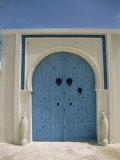 Detail of Door  Carthage  Tunisia  North Africa  Africa