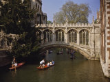 Bridge of Sighs over the River Cam at St John's College  Cambridge  Cambridgeshire  England  UK