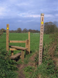 Entrance to Public Footpath  Cheshire  England  United Kingdom  Europe
