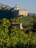 View of Church of San Francesco  Assisi  UNESCO World Heritage Site  Umbria  Italy  Europe