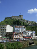 Town and Castle  Lourdes  Midi Pyrenees  France  Europe