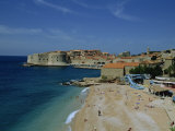 Beach  Dubrovnik  Dalmatia  Croatia  Europe