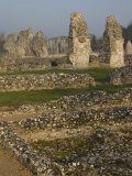 Ruins of Cluniac Priory  Thetford  Norfolk  England  United Kingdom  Europe
