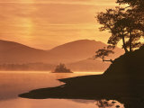 Mist Rising on Derwent Water at Dawn  Lake District National Park  Cumbria  England  United Kingdom