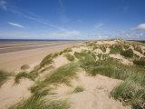 Sand Dunes on Beach  Formby Beach  Lancashire  England  United Kingdom  Europe