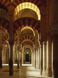 Interior of the Mezquita or Mosque at Cordoba  Cordoba  Andalucia)  Spain