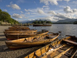 Boats Moored at Derwentwater  Lake District National Park  Cumbria  England  United Kingdom  Europe